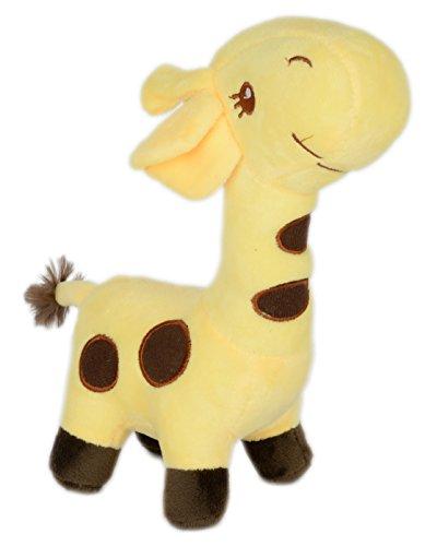 GiftNGreet Giraffe Stuffed Soft Plush Toy, Yellow, 35 cm