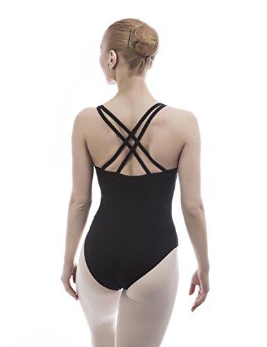 Dance Favourite Dance Leotards Ballet for Girls and Women Gymnastics Black Leotard 01D0036B (M) (Women Leotard Black Ballet)