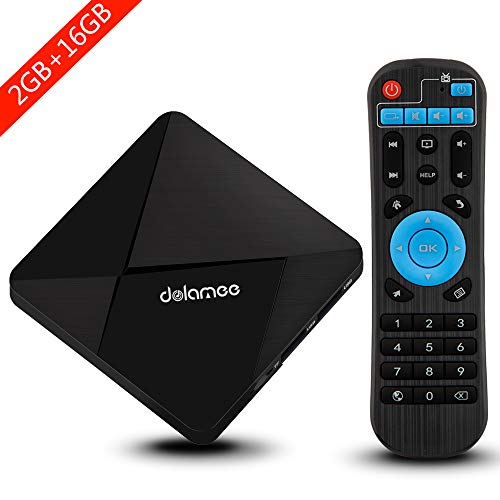 Android TV Box, Dolamee D5 Android 7.1 TV Box Amlogic S905 Quad-core 64 Bits Processor 2GB RAM 16GB ROM Smart Media Player with 3D 4K Wifi Built-in Bluetooth4.0 from DOLAMEE