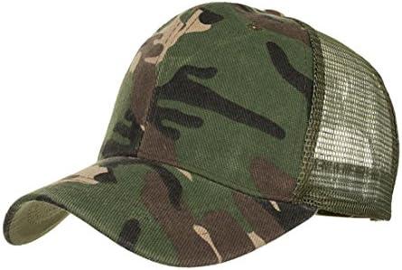 Unisex Men Women Camouflage Mesh Baseball Cap Hat Blank Visor Hat Adjustable Top
