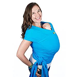 Boba Wrap Turquoise - Fular portabebés, elástico, 0-2 años