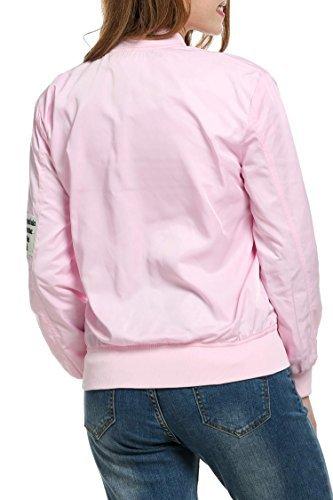 Mujeres De Rosa Manga Las La Meaneor Largas Ocasionales Outwear qC1g7CBzw
