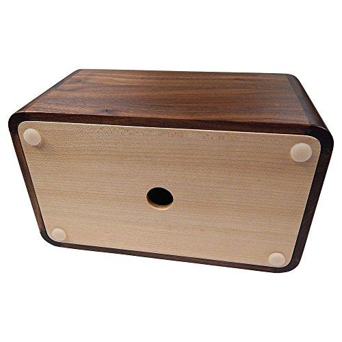 Tomokazu Lombard Maple and Walnut Wood Large Rectangular Facial Tissue Box Cover/Wooden Holder/Paper Dispenser by Tomokazu (Image #2)