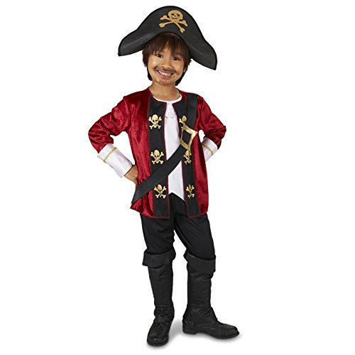 [The Captain Pirate Toddler Costume 2-4T] (Toddler Boys Pirate Costumes)