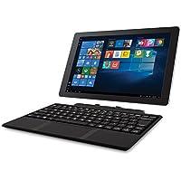2018 RCA Cambio 2-in-1 10.1 Touchscreen Tablet PC, Intel Quad-Core Processor, 2GB RAM, 32GB SSD, Detachable Keyboard, Webcam, WIFI, Bluetooth, Windows 10, Black
