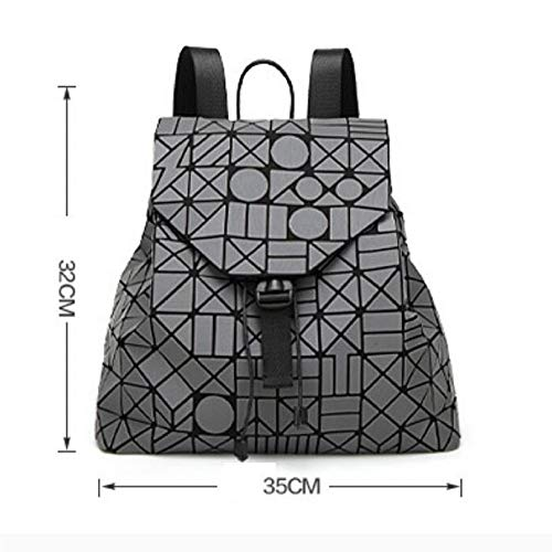 Handbag Women's Blue Diamond Fashion Stitching Geometric Backpack CpCRxX