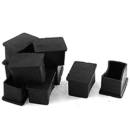 Amazon.com: eDealMax Muebles pata de la mesa Rubber Foot Cubiertas Protectores de 25mm x 38mm 9 PC: Home & Kitchen