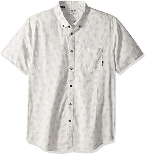 Billabong Men's Sundays Mini Short Sleeve Shirt Stone Heather X-Large
