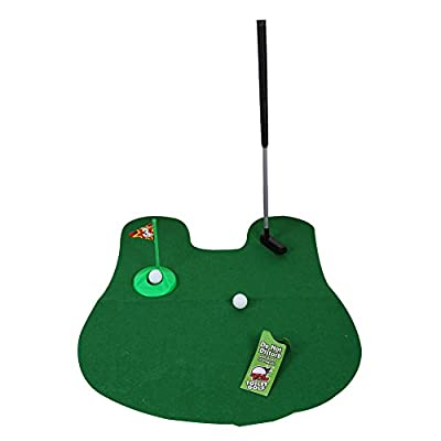 TTnight Golf Potty Putter Putting Game - A Whimsical Golfing Indoor Practice Mini Golf Gag Gift Set - Kids Men Funny Novelty Toy Training Accessory Aid for Any Toilet - 1 Set