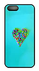 iPhone 5 5S Case Candy Heart115 PC Custom iPhone 5 5S Case Cover Black