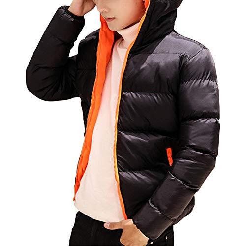 Invernale Sottile Parka Uomo Uomini Con Felpa Nero Giù Cappuccio Calda Giacca Cappotto Gli Per Arancione Godgets Casuale Da In tB4x1znwqP