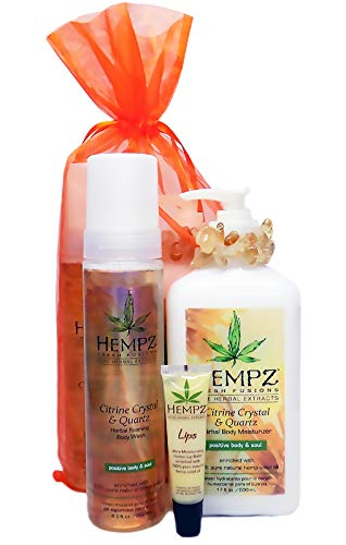 Hempz Body Gift Set - Hempz CITRINE CRYSTAL & QUARTZ GIFT SET - 3 Pc.