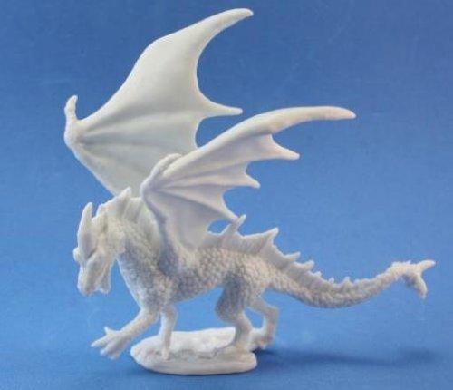 Reaper 77026: Young Fire Dragon - Dark Heaven Legends Bones Miniature ()