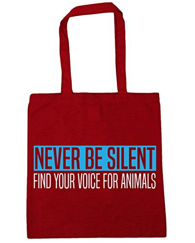 x38cm Silent 42cm litres Bag Find Be Your Red Shopping Tote Beach Gym 10 Never For HippoWarehouse Classic Animals Voice aEO6E