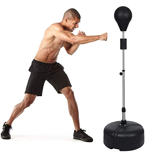 ANCHEER Punching Bag with Stand for Adults & Kids, Adjustable Height Stand, Great for Exercise and Fitness