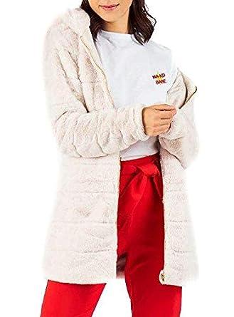 Only Abrigo Martina Fur Beige Mujer S Beige: Amazon.es: Ropa y accesorios