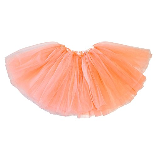 My Lello Little Girls Tutu 3-Layer Ballerina Peach (9 mo - 3T) (Princess Peach Costume Toddler)