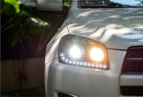 GOWE Car Styling Car Styling For toyota RAV4 headlights 2009-13 For RAV4 LED head lamp Angel eye led DRL front light Bi-Xenon Color Temperature:6000K Wattage:35W 1