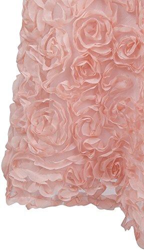 Vestito Angel Rosa Senza Pieghe donna fusciacca spalline Rosa Tesoro fashions appliques sposa da q66CznHxpw