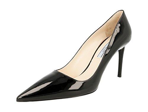 Prada Women's 1I221F Black Leather Pumps/Heels EU 39.5/US (Prada Black Pumps)