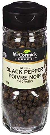 McCormick Gourmet, Premium Quality Natural Herbs & Spices, Whole Black Pepper,