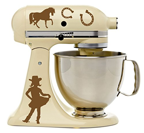eshoe Light Brown Vinyl Decal Set for Kitchen Stand Mixer ()