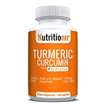 Turmeric Curcumin with Bioperine by Nutritionn - Premium Natural Healing Supplement - 60 Capsules