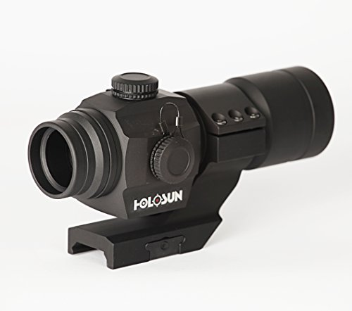 HOLOSUN HS406A Tube Red Dot Sight with 30mm Cantilever Weaver - Of Moa Hours Operation