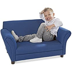 Melissa & Doug Child's Sofa - Denim Children's Furniture - Amazon Exclusive