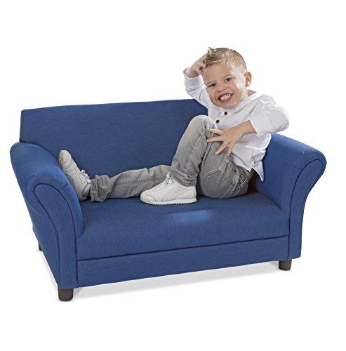 Melissa & Doug Child's Sofa - Denim Children's Furniture - Amazon Exclusive