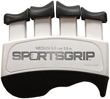 SPORTSGRIP Hand and Finger Exerciser Medium – 5lbs 2.3kg Best Ergonomic Finger Strengthener to Improve Grip for All Sport Athletes
