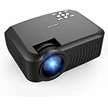 Projector, DBPOWER T22 Upgraded 2400 Lumens LCD Mini Portable Projector Support 1080P TV Laptop SD XBOX Amazon Fire TV Stick iPad iPhone Android Smartphone with HDMI Cable for Multimedia Home Theater-