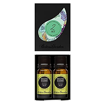 Breathe Easier 100% Pure Therapeutic Grade Synergy Blend Essential Oil by Edens Garden GC/MS tested