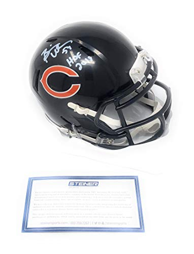 Brian Urlacher Chicago Bears Signed Autograph Speed Mini Helmet HOF Inscribed Steiner Sports Certified from Mister Mancave