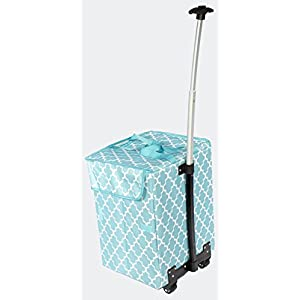 dbest products Bigger Smart Cart, Moroccan Tile Multipurpose Rolling Collapsible Utility Cart Basket