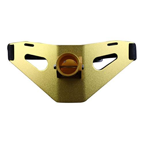 Carriemeow Rocket Belt Aluminum Belly Belt Suitable for Lure Fishing (Color : Gold)