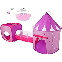 Hide N Side Gift for Girls, Princess Tent with Tunnel,...