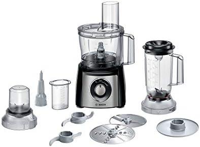 Bosch MCM3501M 800W 2.3L Negro - Robot de cocina (2,3 L, Negro, Giratorio, 1,2 m, De plástico, Acero inoxidable): Amazon.es: Hogar
