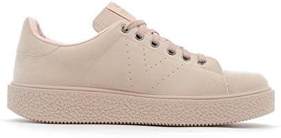 Victoria Zapato Ante con Cordones Y Plataforma 4 36 Nude