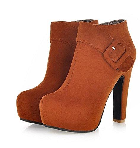 Chaussure pour Chaussures Heel Cheville de Soirée de Tempérament Chaussures Femme Martin Élégant Yellow Stiletto HETAO Talons Chaussure Forme personnalité de de W8H4Y