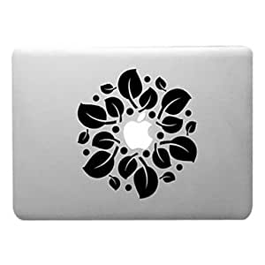 Leaves Circles Pattern Transparent PC Hard Case for MacBook Pro (Assorted Colors) , Orange , 13.3""