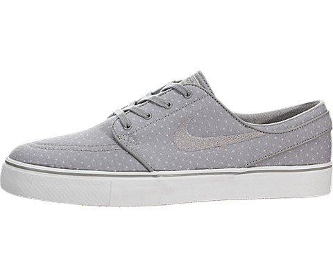 Skateboard Wht Shoe - Nike Mens Zoom Stefan Janoski Cnvs Prm Medium Grey/Mdm Grey/Smmt Wht Skate Shoe 9.5 Men US