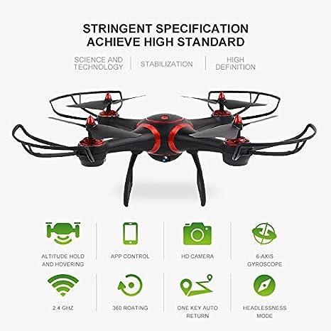 JRhong Drone Camara Drone Nuevo WiFi FPV RC Drone S7 Modo Sin ...