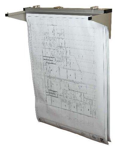 Adir Corp. 616 Drop - Lift Wall Rack for Blueprints - Plans, Sand ()