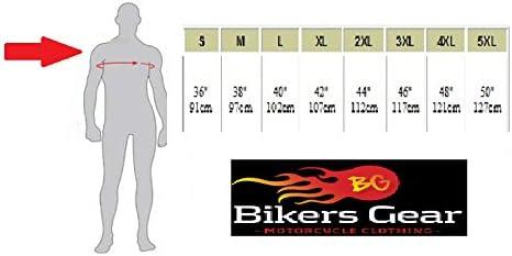 Australian Bikers Gear Chaqueta Sturgis Monza  de moto para hombre  en cuero con Protecciones TALLA 3XL