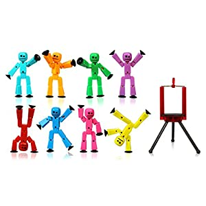 Zing Stikbot 8 Solid Pink/Yellow/Light Blue/Green/Dark Blue/Purple/Orange/Red Color and Red Tripod - 41XzvouZ7gL - Zing Stikbot 8 Solid Pink/Yellow/Light Blue/Green/Dark Blue/Purple/Orange/Red Color and Red Tripod
