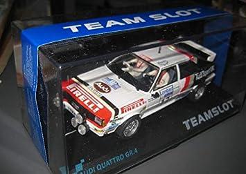 EXIN, FLY CAR MODELS SCALEXTRIC Team Slot Audi Quattro Gr. A PIRELLI del RAC 82: Amazon.es: Juguetes y juegos