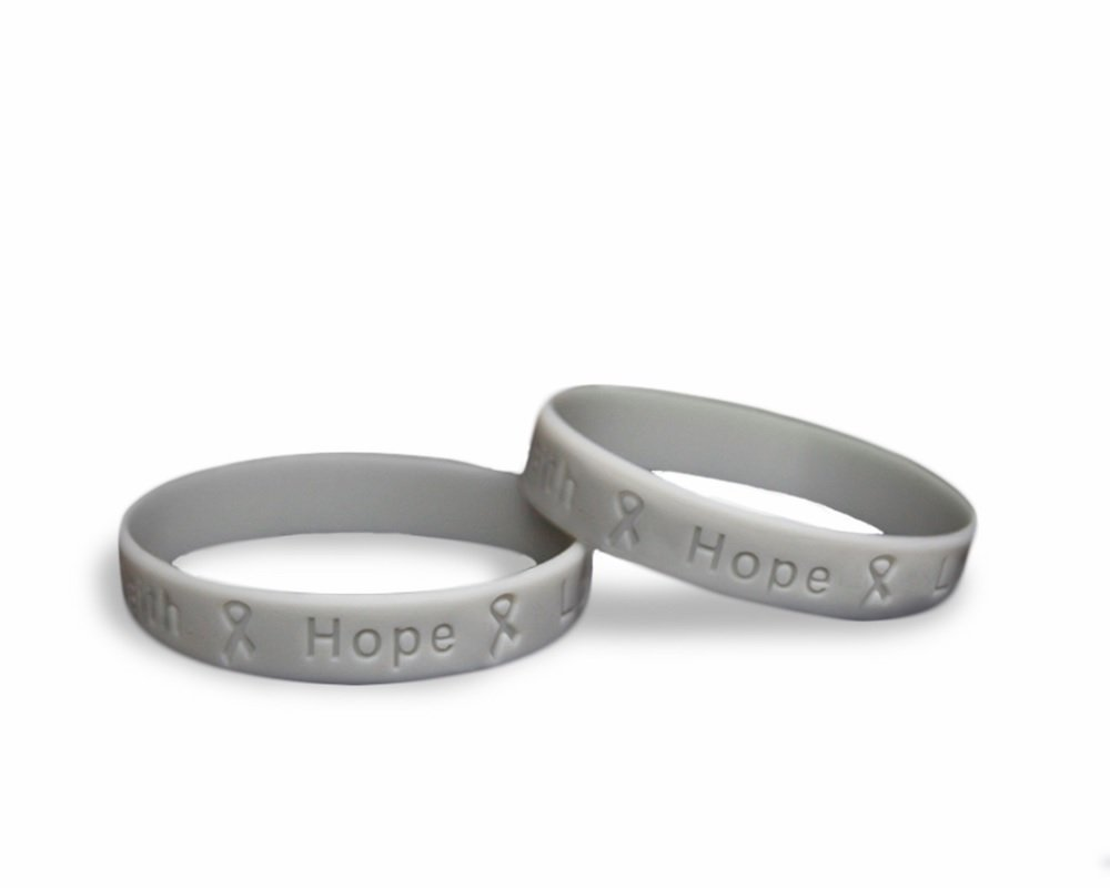 Fundraising For A Cause 50 Pack Parkinson's Awareness Gray Silicone Bracelets - Adult Size (Wholesale Pack - 50 Bracelets)