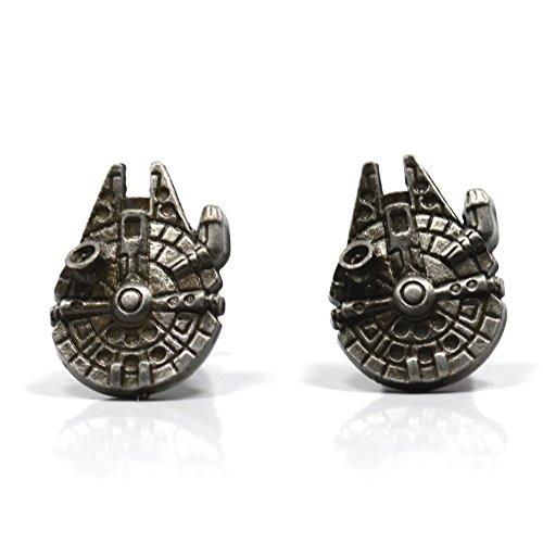 Star Wars Accessories - Palladium Millenium Falcon Cufflinks in Gift Box - Jewellery for Men