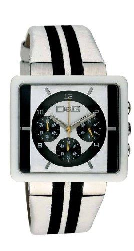 Dolce & Gabbana Cream Chrono DW0066 - Reloj cronógrafo de caballero de cuarzo con correa de
